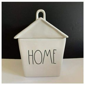 Rae Dunn LL HOME House Cookie Canister